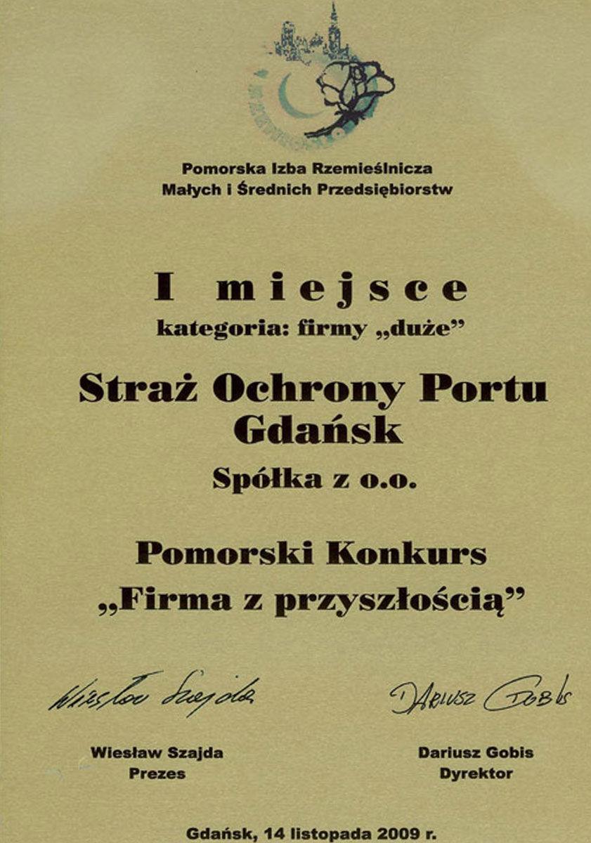 1. miejsce w Pomorskim Konkursie